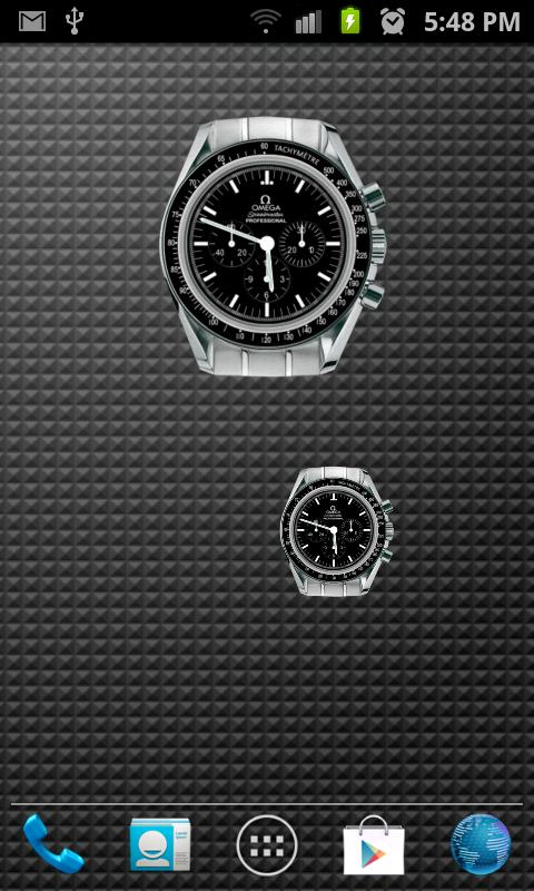 Omega Speedmaster Analog Clock - screenshot