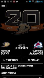 Anaheim Ducks Official App - screenshot thumbnail