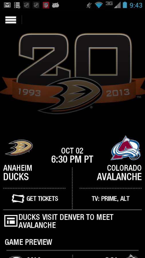 Anaheim Ducks Official App - screenshot