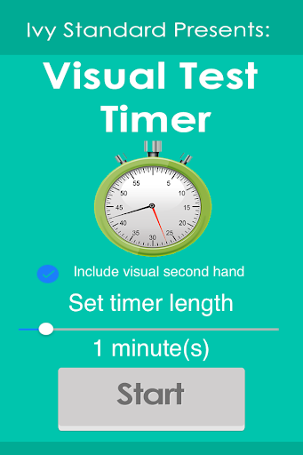 Visual Test Homework Timer