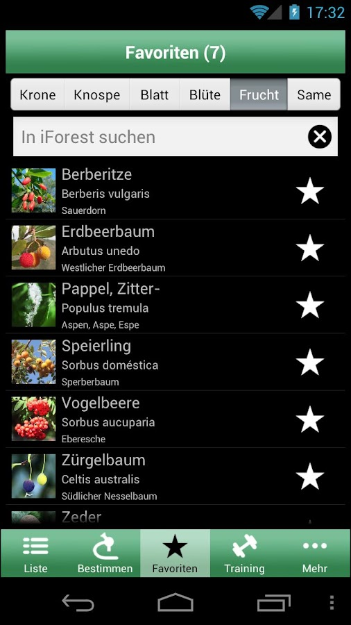 iForest - Trees and shrubs - screenshot