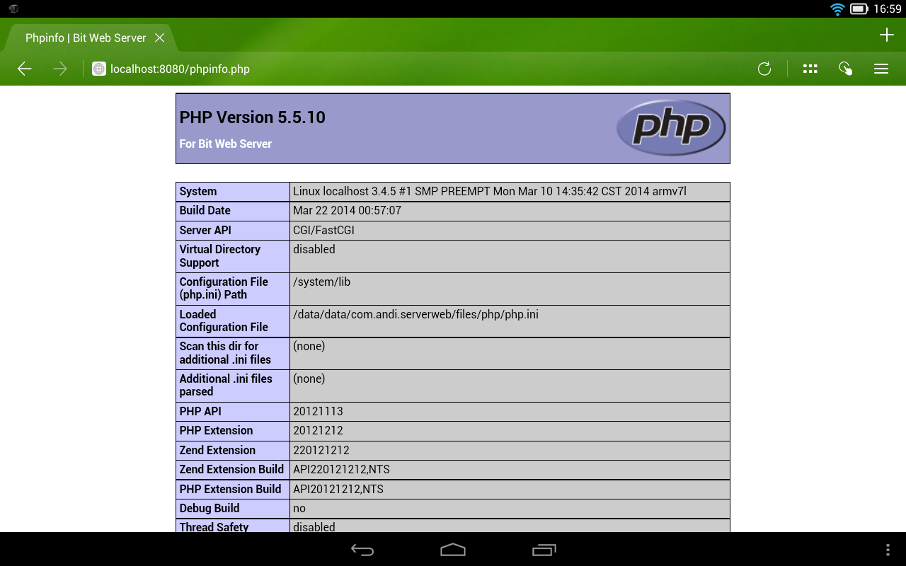 Bit Web Server (PHP,MySQL,PMA)- screenshot