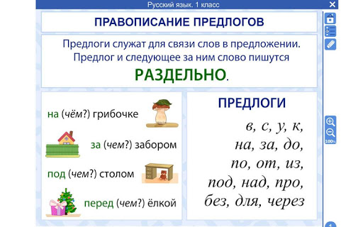 Русский язык 1 класс ФГОС