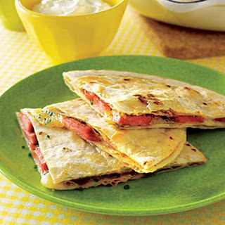 Hot Doggy Quesadillas.