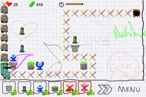 Doodle Defense Lite - screenshot