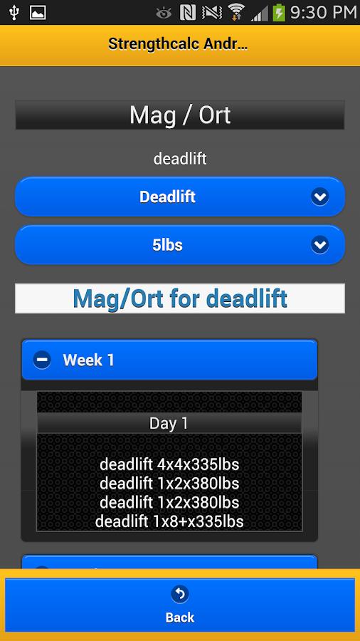 StrengthCalc Juiced Edition - screenshot