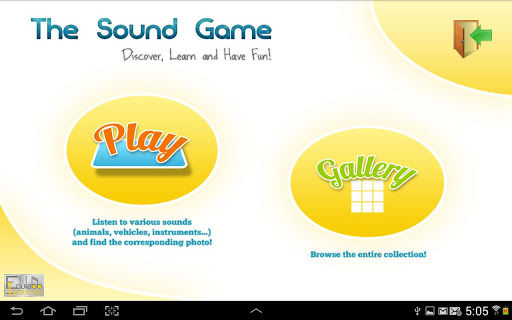 The Sound Game Game for kids