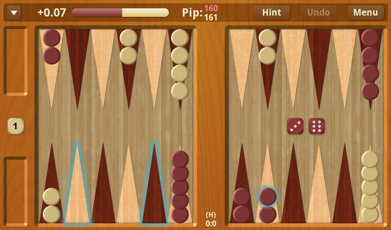 Backgammon NJ for Android- スクリーンショット
