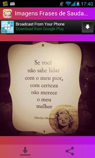 Imagens com Frases de Saudade screenshot