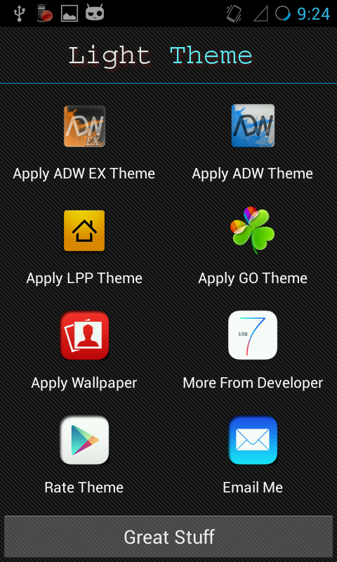Light Go Launcher Ex Theme - screenshot