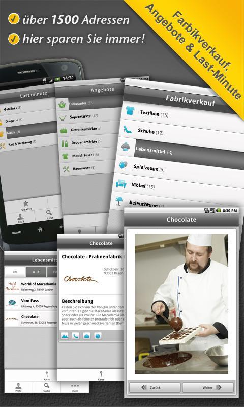 Gutscheine-App undSPAREN.de - screenshot