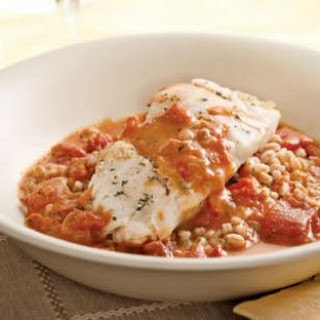 Cod with Tomato Cream Sauce for Two.