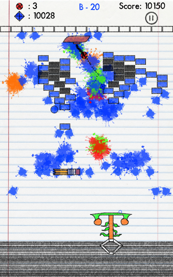 Sketchpad Escape - Brick Break - screenshot