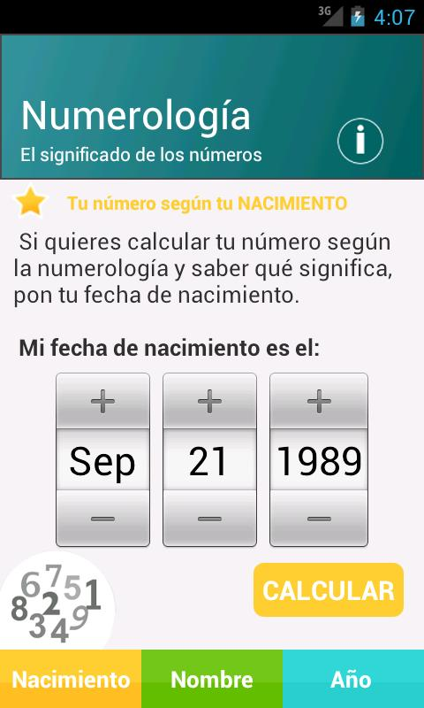 Numerología - screenshot
