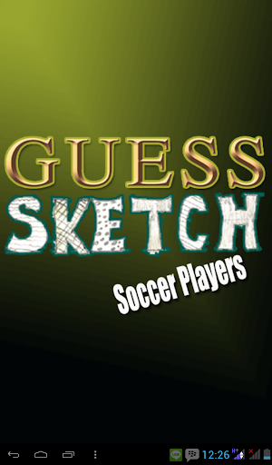 Guess Sketch Soccer Players