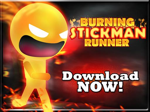 Burning Stickman runner FREE