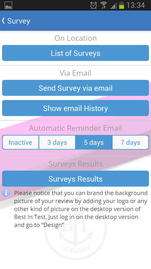 Customer Review & Survey- screenshot