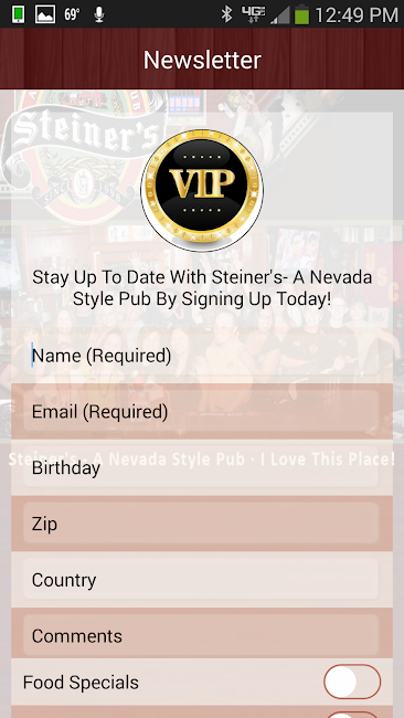 #4. Steiner's - A Nevada Style Pub (Android)