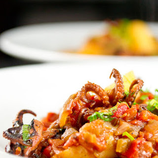 Baby Octopus in Tomato Sauce.