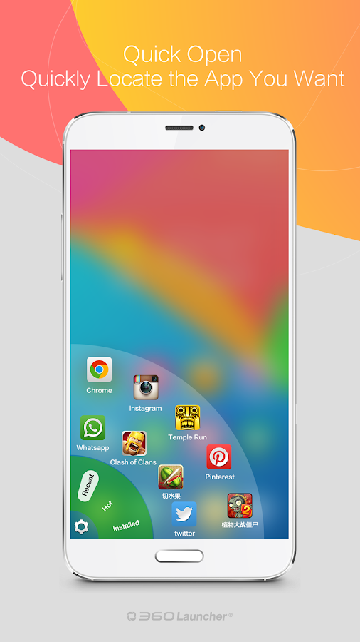 360 Launcher-Fast, Free Themes - screenshot
