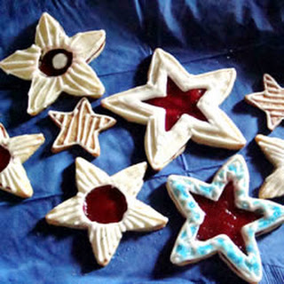 Raspberry Star Cookies