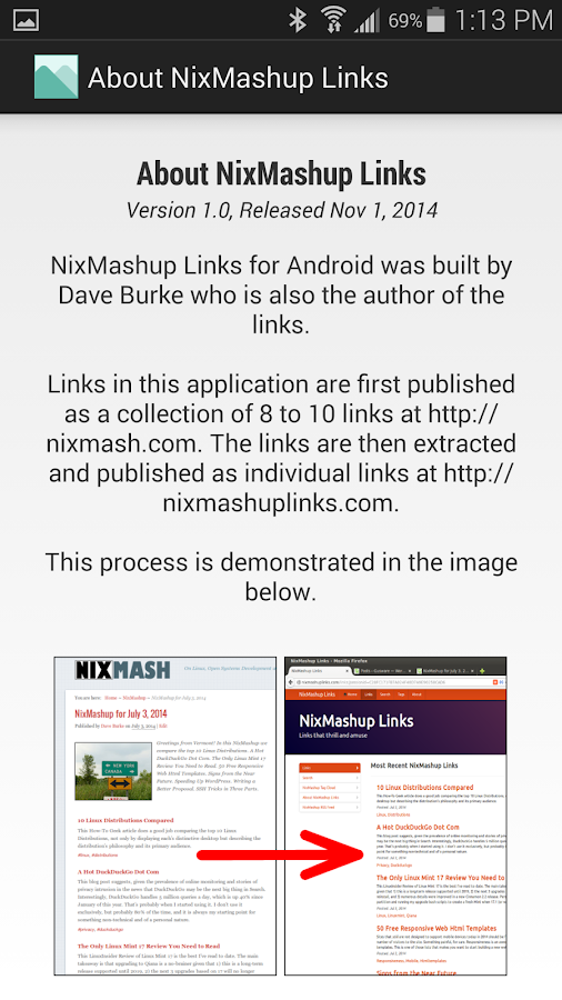 NixMashup Links- screenshot