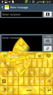 GO Keyboard Gold Glow Theme - screenshot thumbnail