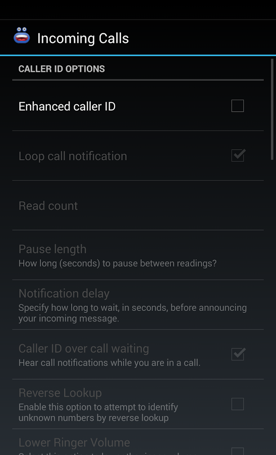 Enhanced Caller ID+- screenshot