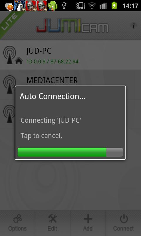 JumiCam lite- screenshot