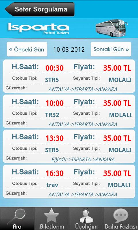 Isparta Petrol Turizm- screenshot