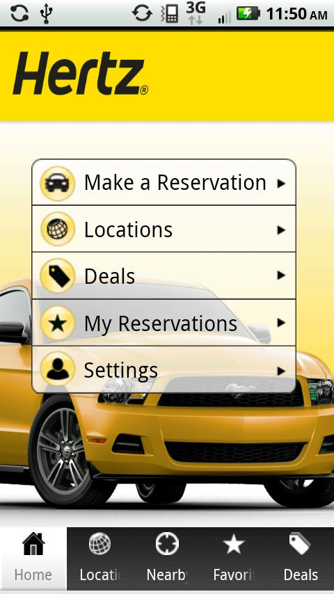 Hertz RentACar - screenshot
