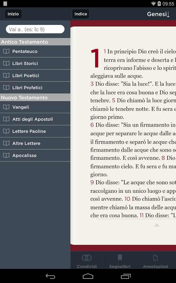 Bibbia CEI- screenshot