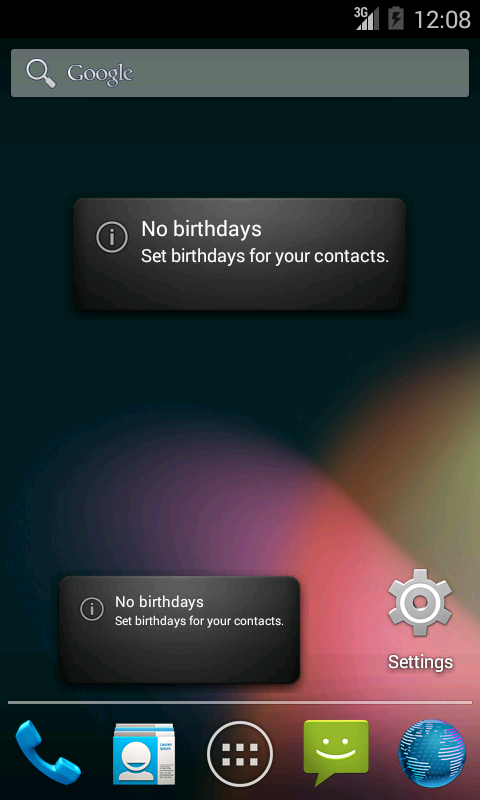 Birthday Widget - screenshot