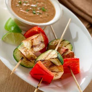 Grilled Mexican Chicken Satay.