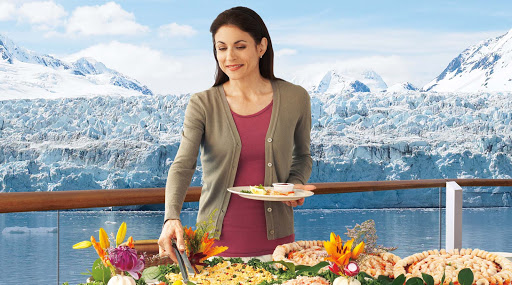Taste-of-Alaska-buffet - While cruising through Alaska, passengers aboard  Princess can try regional seafood specialties in the Taste of Alaska buffet.