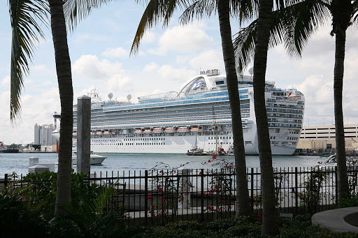 Ruby Princess in Fort Lauderdale, Florida.