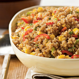 Toasted Quinoa With Chiles and Corn