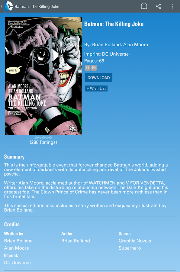 DC Comics - screenshot