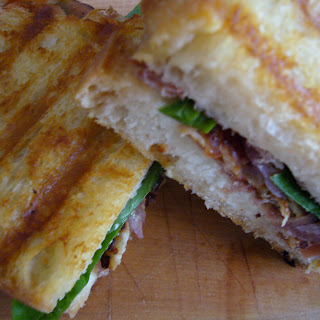 Halloumi and Prosciutto Panini