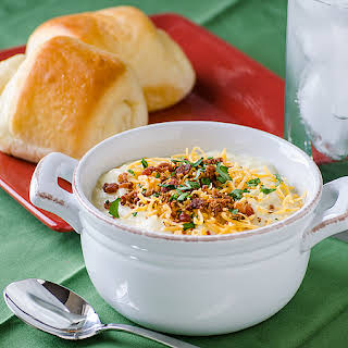 Creamy Potato Soup With Cheese And Bacon Recipes.