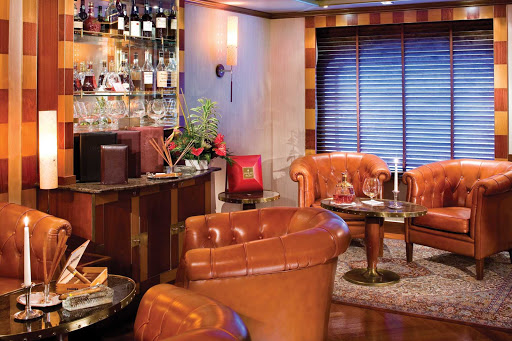 Connoisseur_Corner_2-1 - The Connoisseur's Corner on board Silver Whisper is the perfect place to sample premium Cognacs or smoke a cigar.