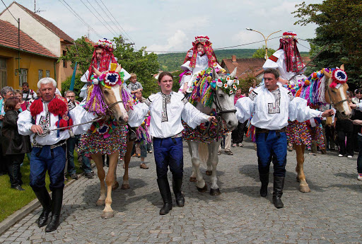 The Ride of the Kings festival at the small village of Vlčnov, in the Czech Republic, is known for its traditional costumes and folklore music.