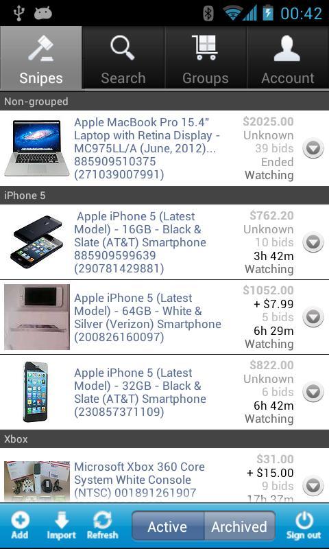 BayGenie eBay Auction Sniper- screenshot