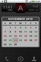 Screenshot of FD Shift Calendar Widget
