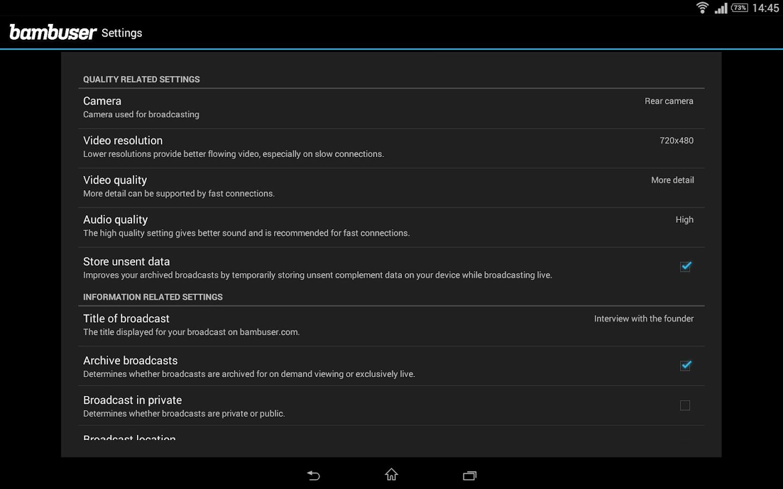 Bambuser - screenshot
