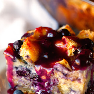 Overnight Blueberry French Toast Casserole.