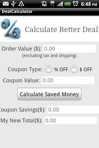Deal Calculator