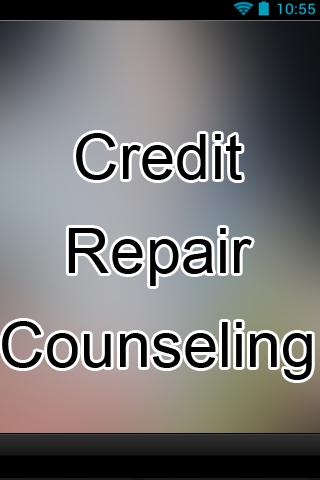 Credit Repair Counseling Info