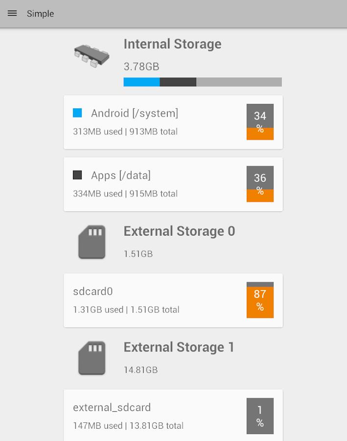 Storage Partitions - screenshot
