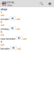 Spanish<>Dutch Dictionary T - screenshot thumbnail